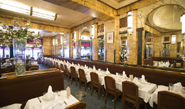 Book a lunch or a dinner at the Vaudeville brasserie in Paris